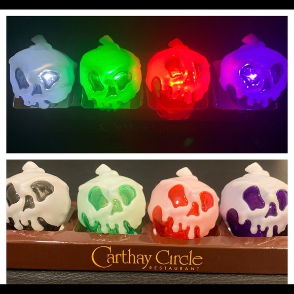 Limited Edition SET of 4 Disney glow cubes w/BLACK